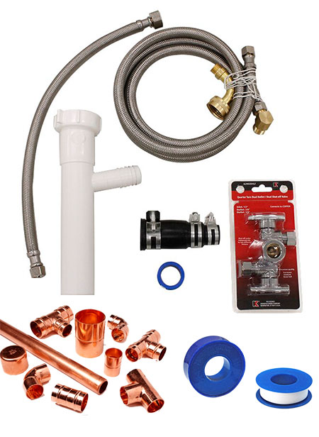 Dishwasher Install Equipment - Taps Sealant & Pipe
