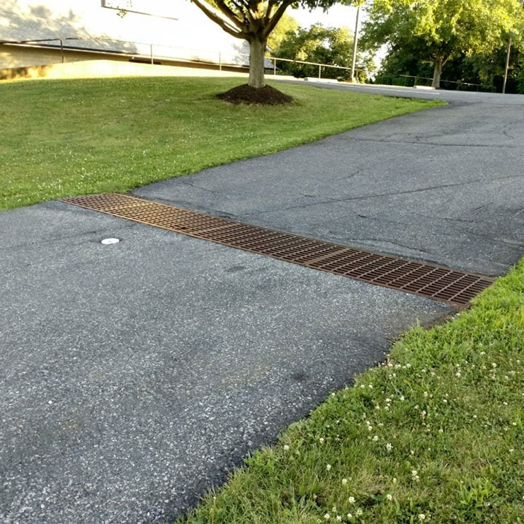 Driveway Drain with a Trench